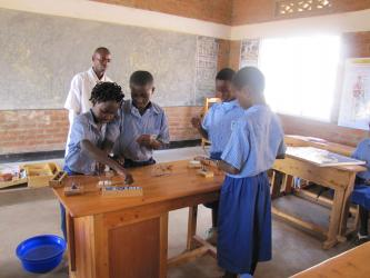 A training session with pupils