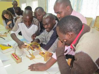 A training session with Teachers